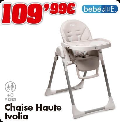 Bebédue chaise-haute ivolia