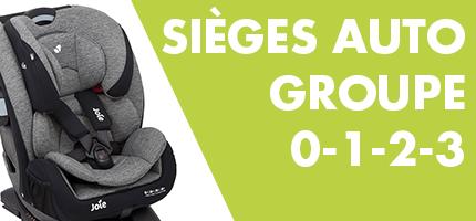 Sieges d'auto Groupe 0-1-2-3