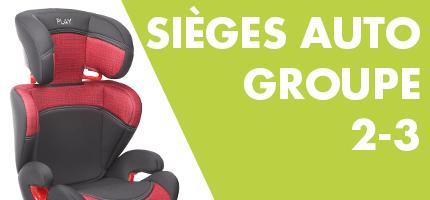 Sieges d'auto Groupe 2-3