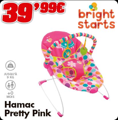 Bright Starts hamac pretty pink