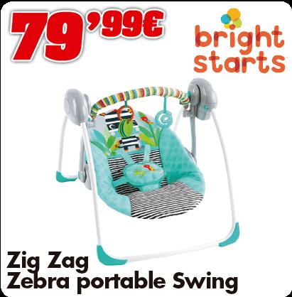 Bright Starts swing Zig Zag Zebra
